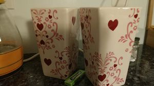 2 Ceramic heart vases for Sale in Vienna, VA
