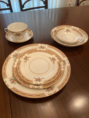 Antique, Occupied Japan, Hira China HIR23 Gold Trim Dinnerware Set for Sale in Saint Charles, MO