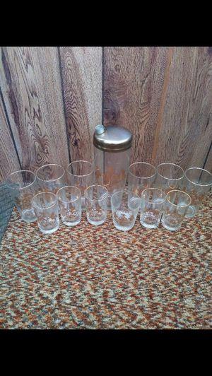 Antique gold-lined Pennsylvania Margarita set - complete set for Sale in Milnesville, PA