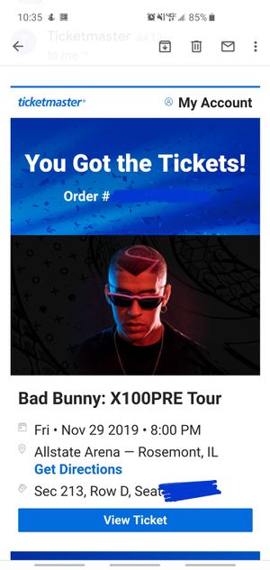 Bad bunny tickets for Sale in St. Charles, IL