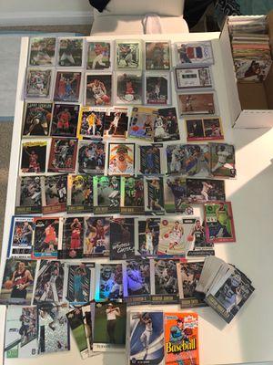 Bundle of basketball baseball football cards Michael Jordan Lebron James for Sale in Fairfax, VA