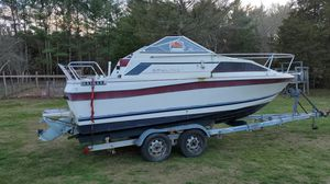 FREE BOAT 1983 Bayliner Ciera Volvo Penta 270 1986 Continental Boat Trailer ASIS for Sale in Rochester, MA
