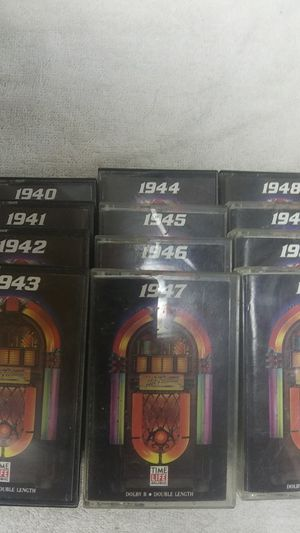 VINTAGE HIT PARADE 1940-1951 CASSETTES for Sale in El Paso, TX