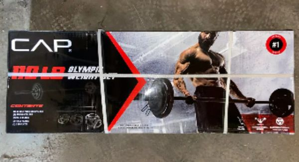 CAP 110 lb Olympic Weight Set w/ 7 ft Bar - NEW IN HAND
