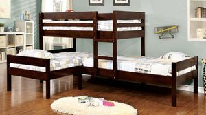 Triple Twin Corner Bunk Bed Frame Brand New In Box for Sale in Rancho Cucamonga, CA