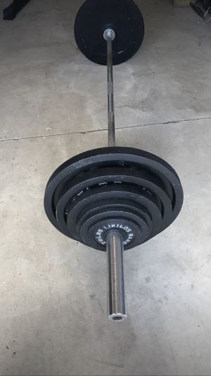 Barbell Olympic weight set for Sale in Jeannette, PA