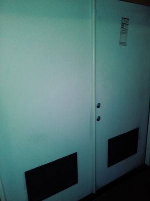 (Fiberglass)Steel double doors,73 7/8 X 80 1/4...Jeldwen for Sale in Whittier, CA