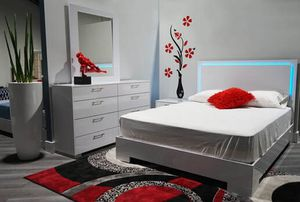 🌈🔥QUEEN SIZE BEDROOM SET 4 pcs🔥📣LED LIGHT‼️SAME DAY DELIVERY 💥FINANCING NO CREDIT NEED✔️ for Sale in North Miami Beach, FL