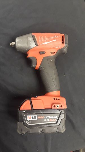 Milwaukee M18 3/8 Impact Wrench + 5.0 Battery for Sale in UPR MARLBORO, MD