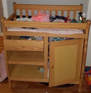 Baby changing table with storage for Sale in Denver, CO