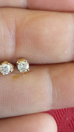 14 k yellow gold diamond earrings. for Sale in Indianapolis, IN