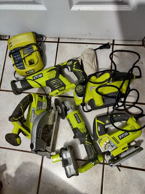Ryobi mix of one+ power tools w/ a charger and battery for Sale in Norwalk, CA
