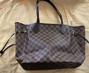 Pre-owned Authentic Louis Vuitton NeverFull MM Damier Pink for Sale in Washington, DC