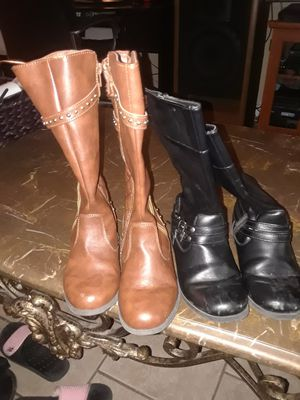 2 pair brand new girls boots size 2 for Sale in Metairie, LA