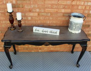 Modern Farmhouse Console Table - Champagne Crocodile Top for Sale in Ballwin, MO