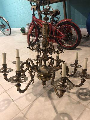 Antique Brass Candelabra Chandelier for Sale in Bogota, NJ