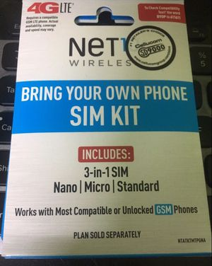 NEW Simple Mobile Sim Card Activate FREE $25 UNLIMITED for Unlock iPhone or Samsung LG J7 J3 G6 G5 for Sale in Hialeah, FL
