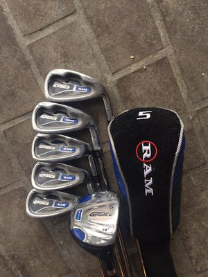 Golf club set - Ram g force irons and wood for Sale in Houston, TX