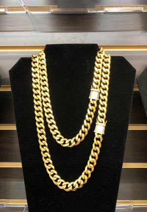 Stainless steel gold plated chains for Sale in Las Vegas, NV