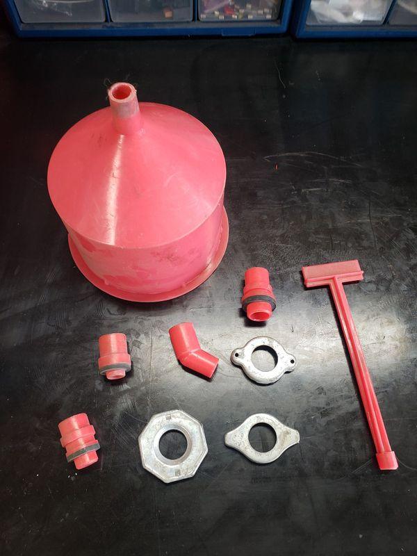 Spill Proof Radiator Coolant Filling Funnel Kit