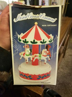 Musical carousel ornament for Sale in Benton, AR