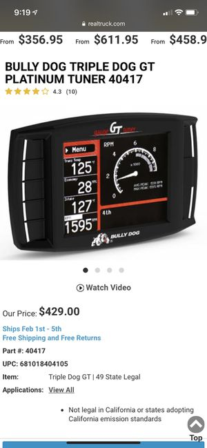 Bully dog gt truck tuner for Sale in Millville, NJ
