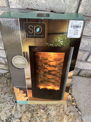 New Sara Peyton Home LED Light Sandstone Water Fountain for Sale in Glen Carbon, IL