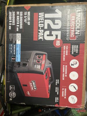 Lincoln Electric 125 Amp Weld-Pak 125 HD Flux-Cored Welder with Magnum 100L Gun, Flux-Cored Wire, 115V New for Sale in San Diego, CA