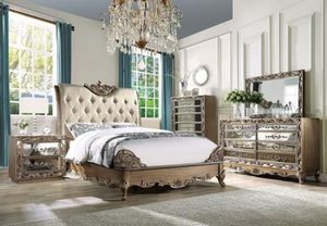 Brand New Antique Gold Bed for Sale in Tracy, CA