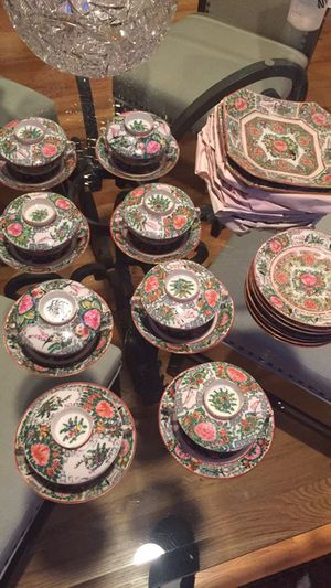 Antique Canton Famille Rose hand painted Chinese tea set for Sale in Renton, WA