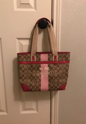 Coach Signature Stripes Heritage Tote Bag K0768-11350 for Sale in Humble, TX