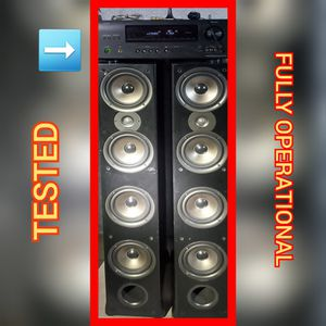 DENON AVR + 2 POLK AUDIO TOWER SPEAKERS + BONUS COMBO EVERYTHING YOU NEED INCLUDED for Sale in Immokalee, FL