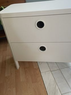 White Two Drawer Dresser for Sale in Downey,  CA
