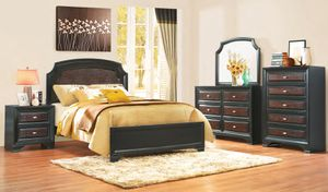 Beautiful neoclassical wood bedroom set 4-Piece queen size bedroom set for Sale in Takoma Park, MD
