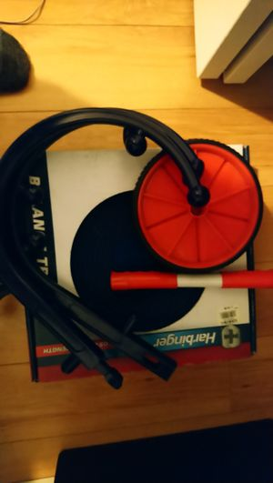 Exercise equipment (ab wheel, balance ball, massage stick) for Sale in Orange, CA