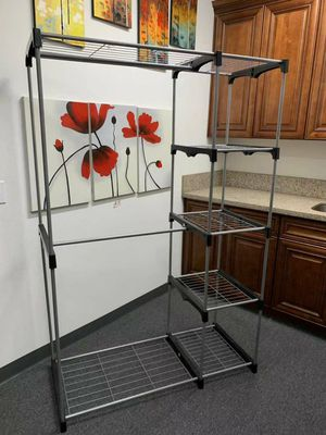 New in box wardrobe clothes shoes closet organizer hanging stand rack storage organizer for Sale in Pico Rivera, CA