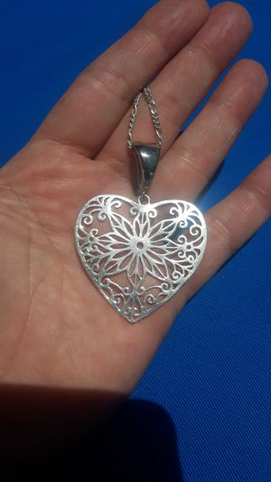 Large silver heart pendant for Sale in Imperial Beach, CA
