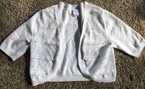 Beautiful white shrug size 10/12 for Sale in Amanda, OH