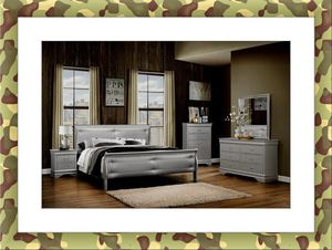 Grey Marley 11pc bedroom set free mattress and delivery for Sale in Ashburn, VA