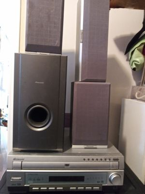 Pioneer receiver dvd cd stereo player with speakers for Sale in Atlanta, GA