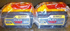 2 DeWalt Flex Volt 9amp Batteries for Sale in Banning, CA