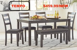 Bribson 6 PC Dining Set, Gray for Sale in Santa Ana, CA