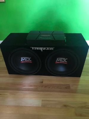 Amp with subs pioneer for Sale in Framingham, MA