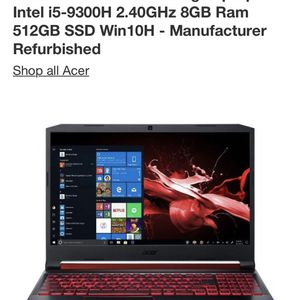 Acer Nitro Laptop for Sale in Los Angeles, CA