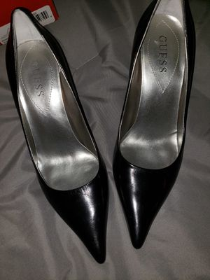Guess black leather heels for Sale in Lorton, VA