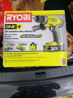Ryobi 18V One+ Hammer Drill/Driver Kit for Sale in West Palm Beach, FL