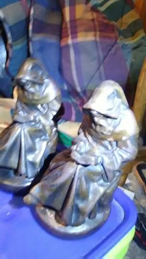 Vintage Reading Monk Bookends from the 1920s. for Sale in Aurora, CO