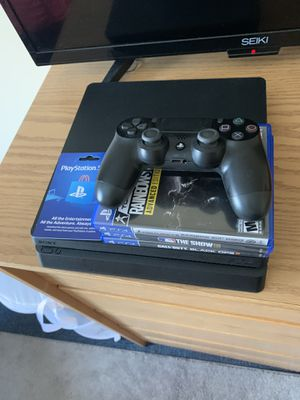 PS4 Slim 1 TB + Controller/3 Games/$20 PSN Card for Sale in Aurora, CO