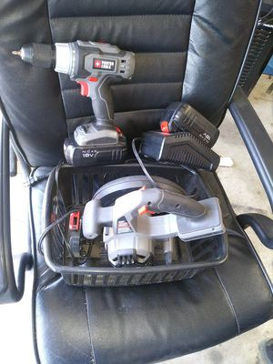 Porter cable 18v drill skill saw for Sale in Fort Worth, TX
