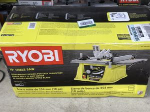 """Ryobi 10"""" Table Saw New for Sale in Ontario, CA"""